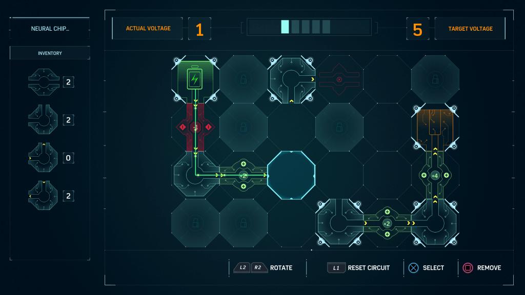 The circuitry mini-game.