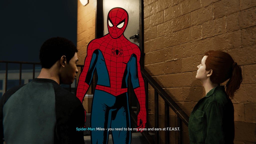 Super serious conversation... with the cartoon Spider-Man