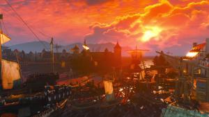 Witcher 3 sunset