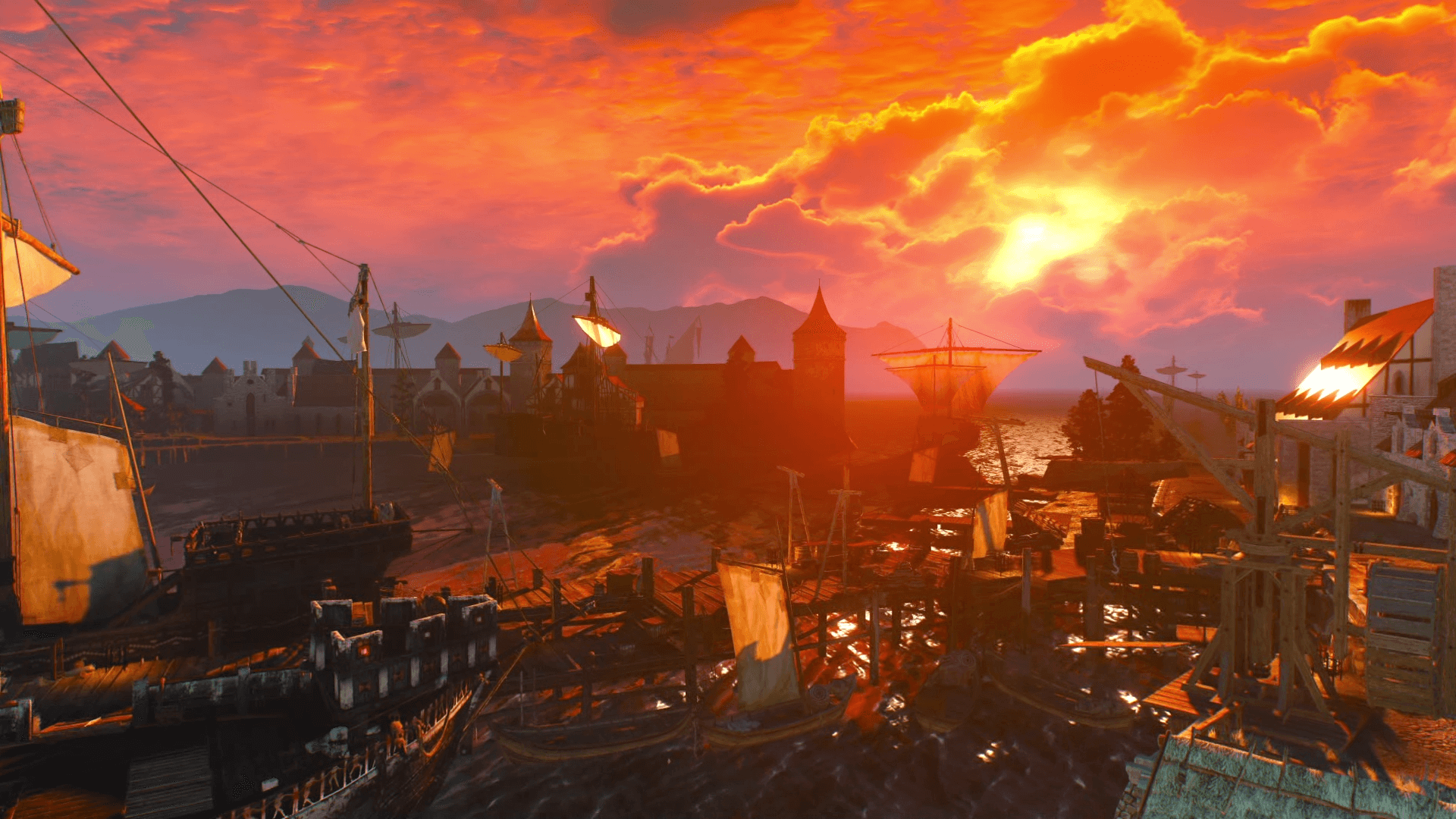 Witcher 3 sunset